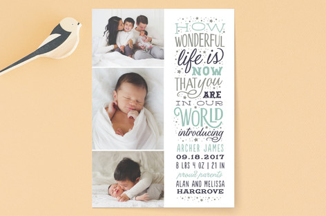 Wonderful Life Birth Announcements