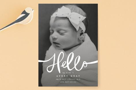 Warm Hello Birth Announcements