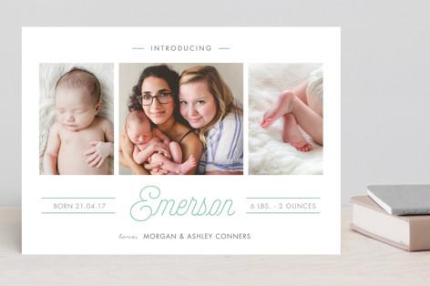 Soft Highlights Birth Announcements
