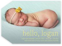 Hello Baby Birth Announcements By annie clark