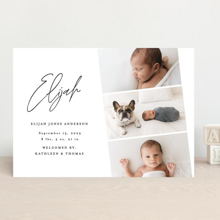 """""""Modern Photo Strip"""" - Birth Announcements in Ink by Anna Elder."""