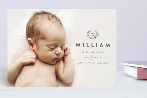 William Wreath Birth Announcements