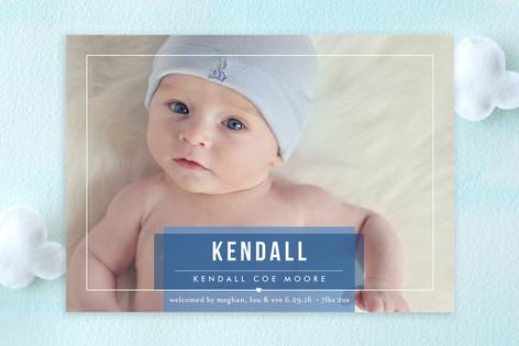 Basic Beauty Birth Announcements