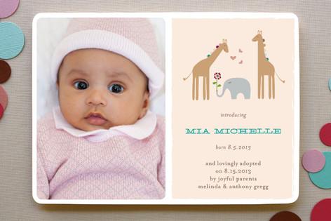 Giraffes & Elephant Birth Announcements