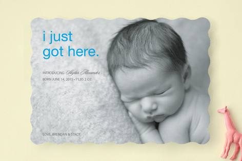 First to Arrive Birth Announcements