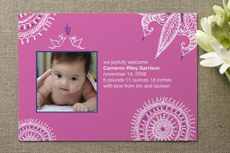 Joyful Lovebirds Birth Announcements