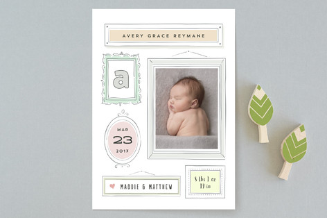 Marzipan Birth Announcements