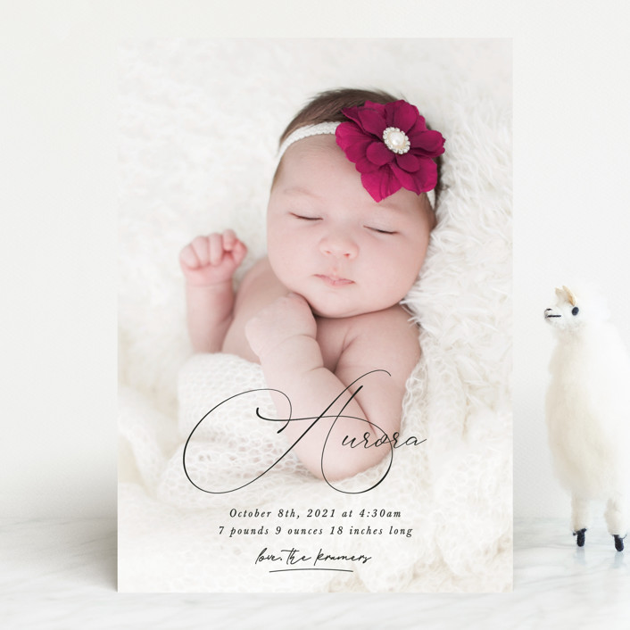 """""""Special love"""" - Birth Announcements in Onyx by Kristel Torralba."""