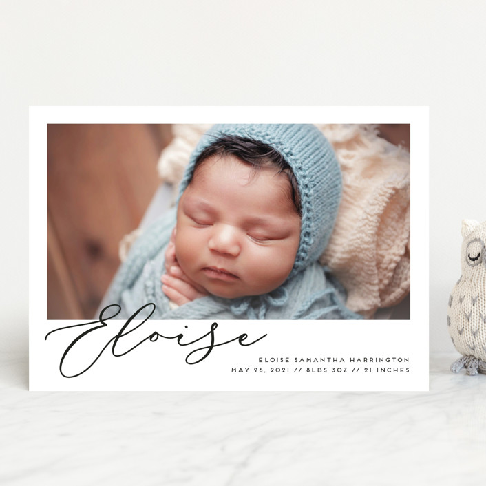 """""""First-Name Basis"""" - Birth Announcements in Onyx by Genna Blackburn."""