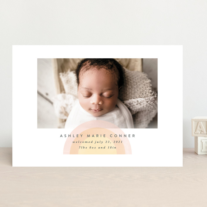 """""""our rainbow"""" - Birth Announcements in Rose by Angela Garrick."""
