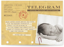 Telegram Birth Announcements by Erin Pescetto | Minted