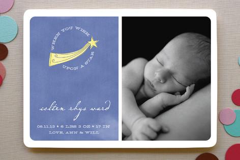 Shooting Star Birth Announcements