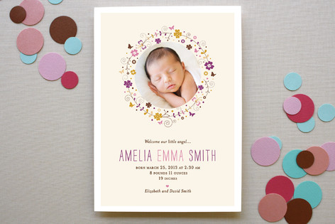sweet amelia Birth Announcements
