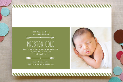 Arrow Announcement Birth Announcements