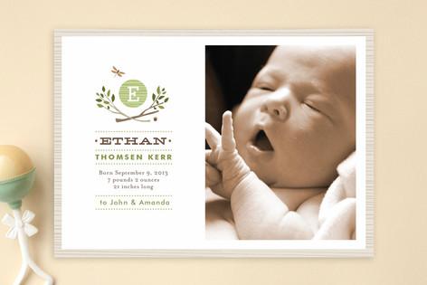 Norwegian Wood Birth Announcements