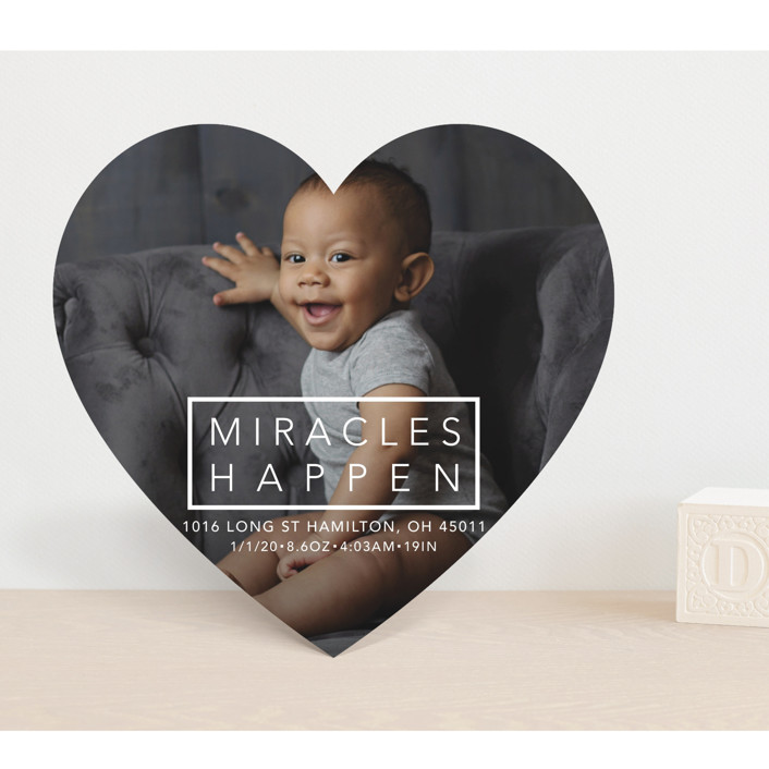"""Miracles Happen"" - Birth Announcements in Coal by Johanna McShan."