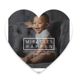This is a black birth announcement by Johanna McShan called Miracles Happen with standard printing on smooth signature in standard.