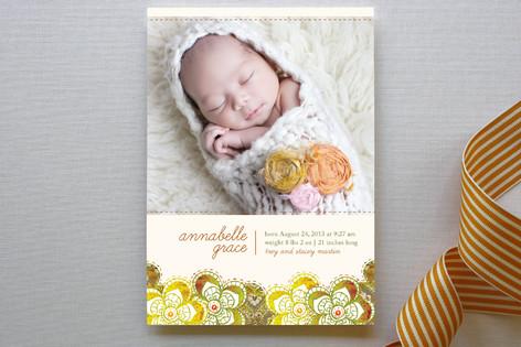 Autumn Florals Birth Announcements