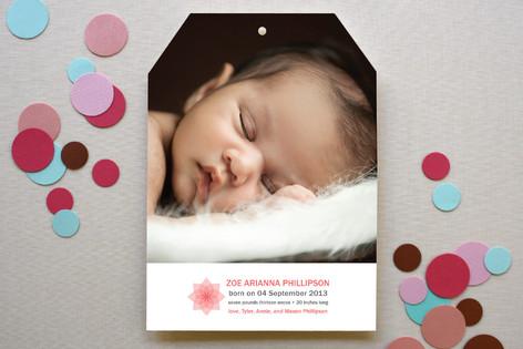 100% Organic Birth Announcements