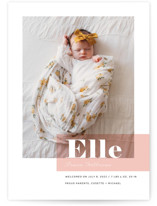 This is a pink birth announcement by Maria Hilas Louie called Magazine Block with standard printing on smooth signature in standard.