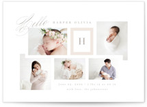 This is a beige birth announcement by Kristie Kern called Precious Gallery with standard printing on smooth signature in standard.