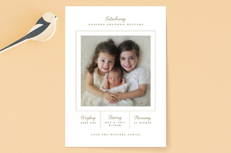 Simply Loved Birth Announcements