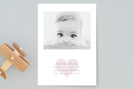 Our Heart Birth Announcements