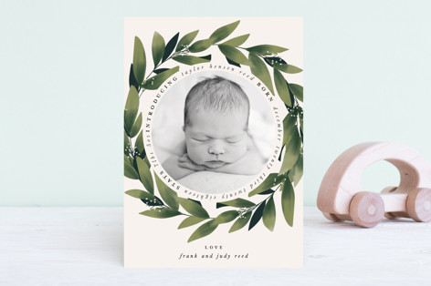 Encircled Birth Announcements