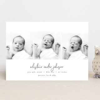 times three Birth Announcements