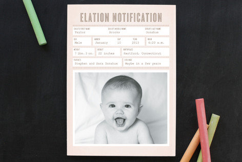 Elation Notification Birth Announcements