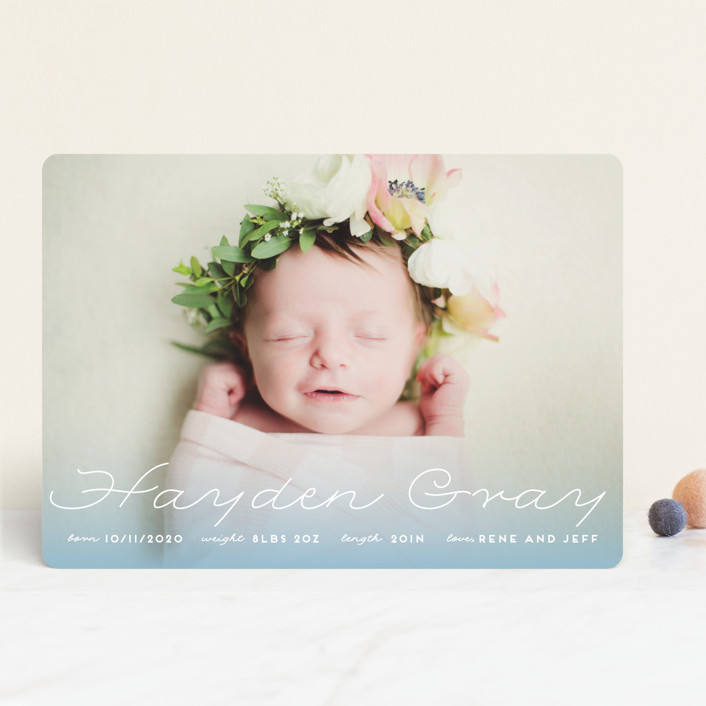 """""""Glowing"""" - Birth Announcements in Blush by Leah Bisch."""