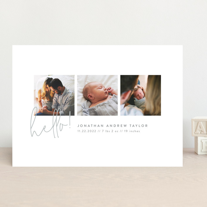"""""""Camera Roll"""" - Birth Announcements in Blanc by Robert and Stella."""