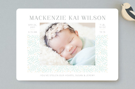Branching Out Birth Announcements
