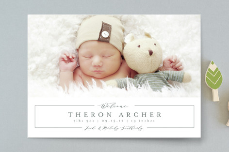 Sweetly Simple Birth Announcements