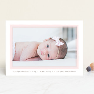 Cotton Candy Birth Announcements