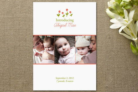 Baby Blooms Birth Announcements