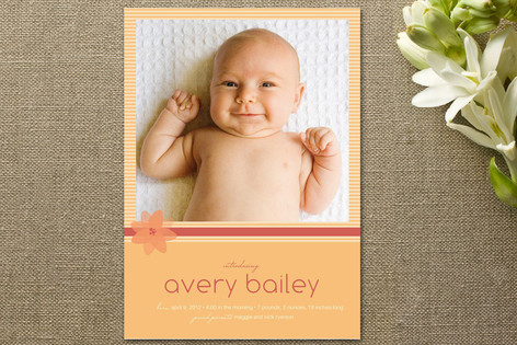 Pretty Posy Birth Announcements