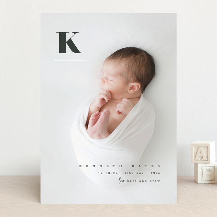 """My alphabet"" - Birth Announcements in Ink by Creo Study."
