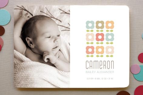 petal pattern Birth Announcements