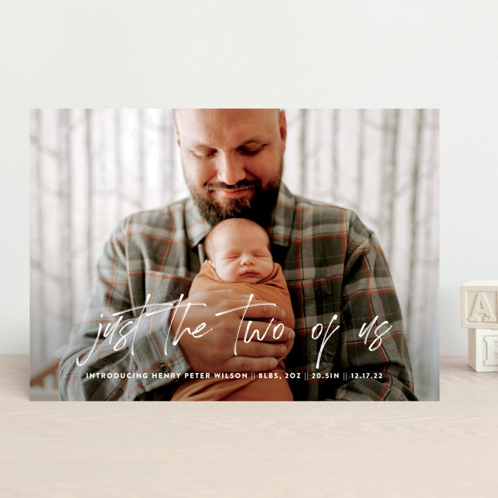 """""""The Two of Us"""" - Modern Birth Announcements in Cloud by Up Up Creative."""