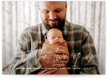 This is a brown birth announcement by Up Up Creative called The Two of Us with standard printing on smooth signature in standard.