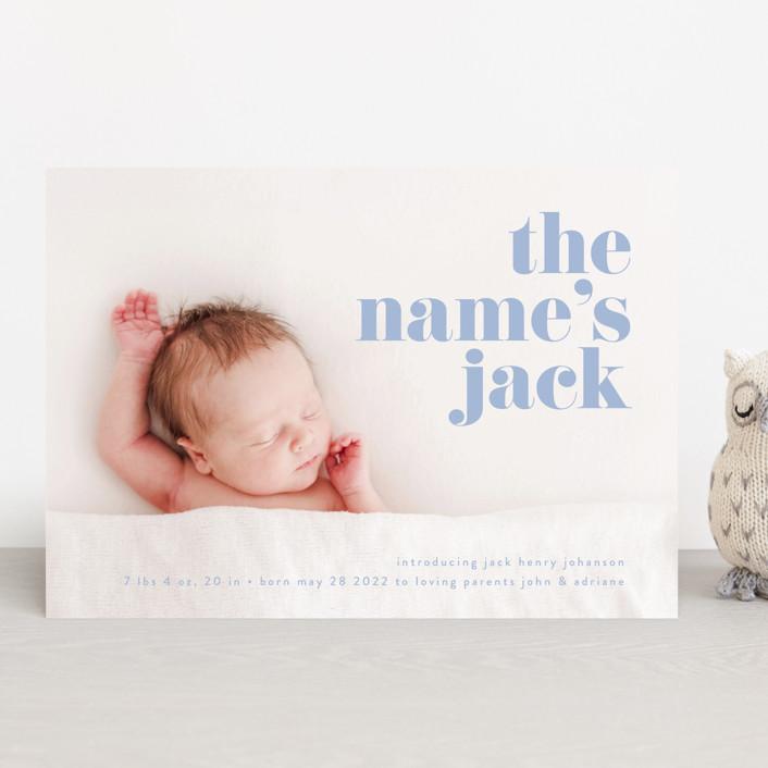 """the name"" - Modern Birth Announcements in Noir by Phrosne Ras."