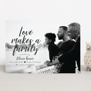Love makes a family Birth Announcements