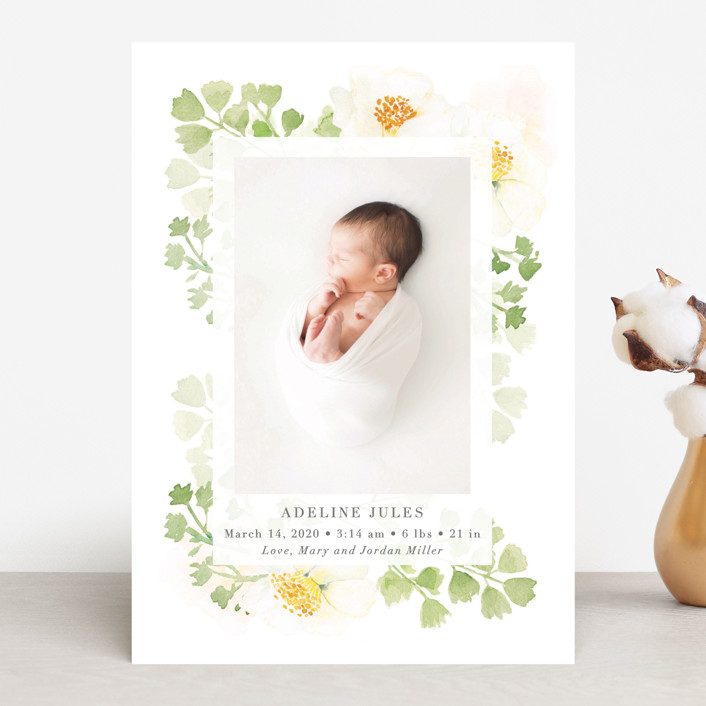 """Spring Love"" - Birth Announcements in Lime by frau brandt."