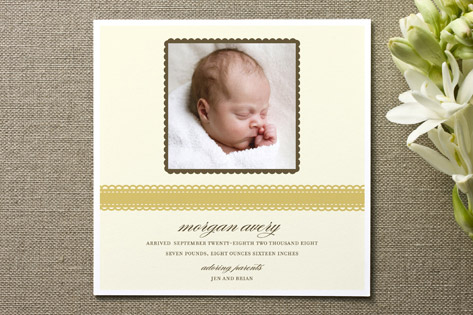 Ribbon Wrap Birth Announcements