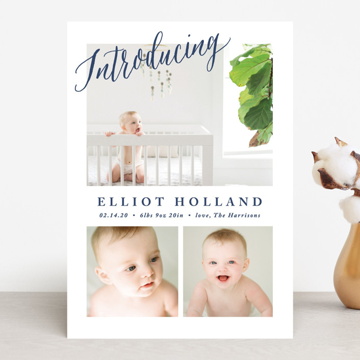 """""""No Fuss"""" - Birth Announcements in State by Carolyn MacLaren."""