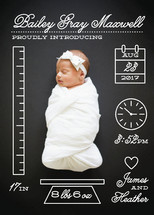 Petite Measurements Birth Announcements By Shari Margolin
