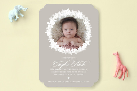 Spring Luxe Birth Announcements