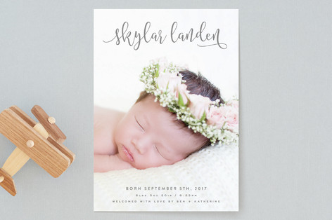 All in a Name Birth Announcements