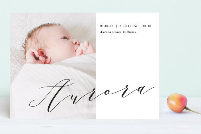 """Bold Elegance"" - Modern Birth Announcements in Pearl by Chryssi Tsoupanarias."